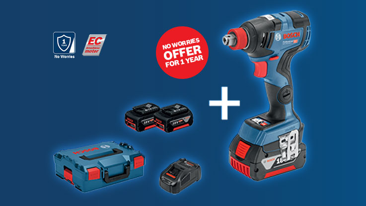 Bosch Cordless EC Tools with one year zero repair cost